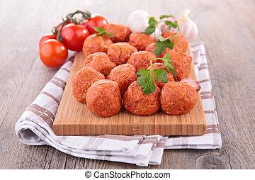raw meatball