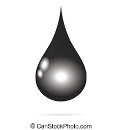 raw oil black charcoal water drop