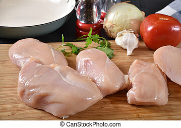 Raw organic chicken