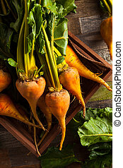 Raw Organic Golden Beets in a Box
