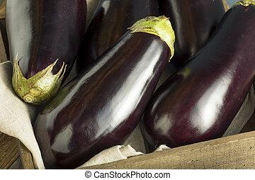 Raw Organic Purple Eggplant