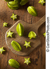 Raw Organic Star Fruit Ready to Eat