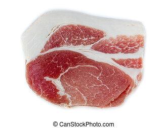 raw pork meat.