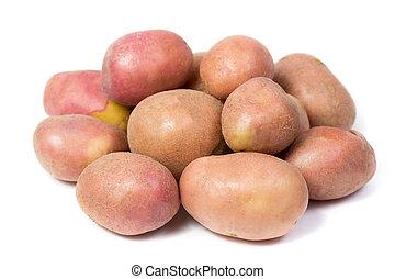 raw potato isolated on white