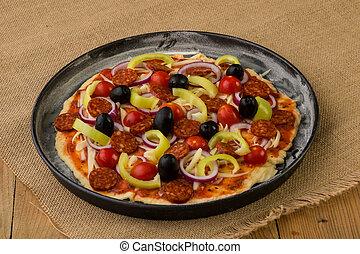 raw rustic pizza