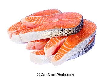 salmon steaks