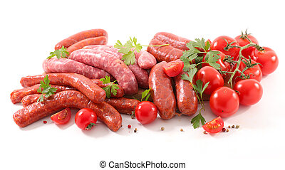 raw sausage for barbecue