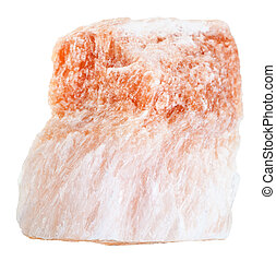 raw Selenite stone (variety of gypsum) isolated