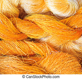 Raw silk thread background