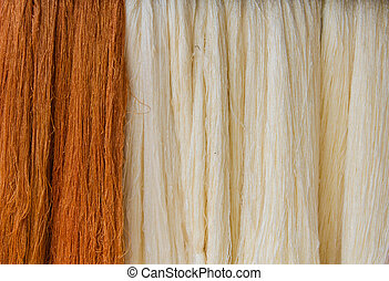 Raw silk thread for background