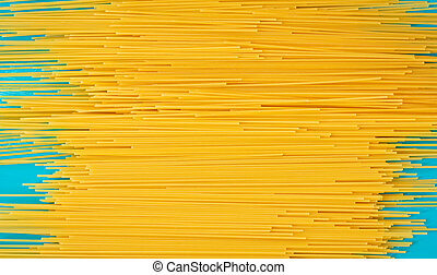 Background with raw spaghetti in horizontal format