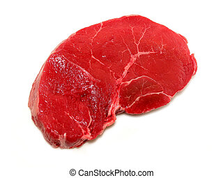 Raw steak on white background - Raw steak isolated on white...