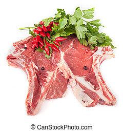 Raw T-Bone Steaks