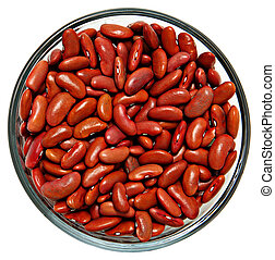 Raw Unwashed Dirty Red Beans