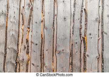 Raw wood background with planks