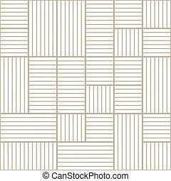 rayé, linéaire, pattern., texture., seamless, vecteur, répéter, moderne, résumé, arrière-plan beige, tissu