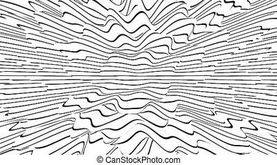 rayé, noir, art., illusion, surréalisme, hd, lignes, texture., render, blanc, 3d, surface, résumé, seamless, ligne, illusions., mouvement, bruyant, boucle, resolution.