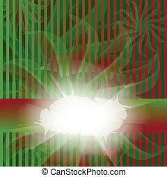 rayé, rouge vert, carte