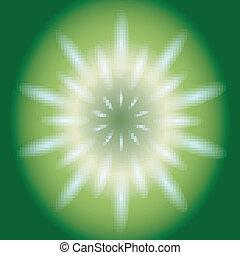 Ray circular light Vector green