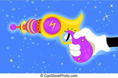 Ray gun in hand