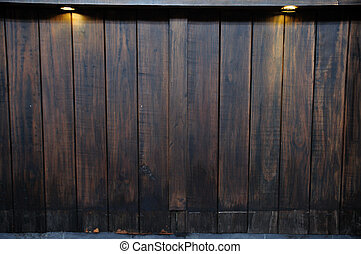Ray light on antique wooden wall