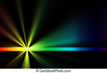 Ray of Light Beams Streaks Art Background