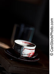ray of light hitting a coffee cup in the kitchen