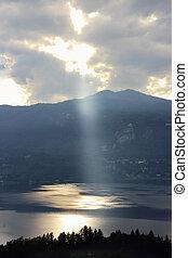 ray of light Orta Lake, Italy