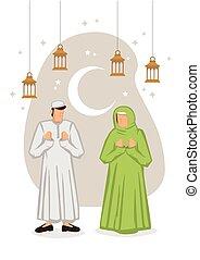 raya, fondo., concept., hari, ramadan, blanco, ayuno, fiesta...