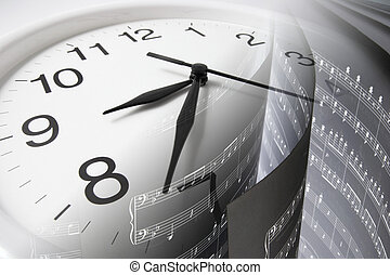 raya, música, reloj