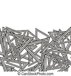 rayado, triángulos, patrón