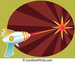 Rayguns are a BLAST! - Retro raygun blasting laser death...