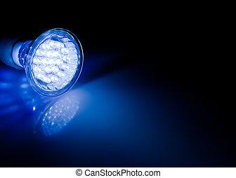rayo, de, fue adelante, lámpara