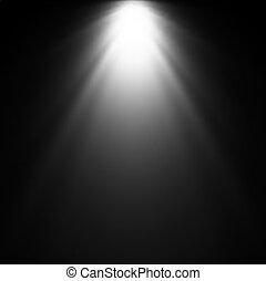 rayo de luz, de, projector., vector, ilustración