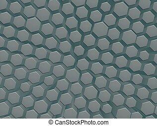 rayon miel, hexagone, fond, géométrique, résumé