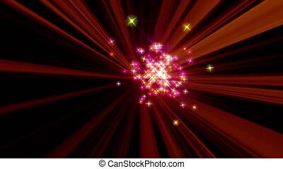 rayon, particule, étoiles, magie