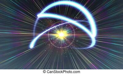 rayon, résumé, lumière, atome, orbite