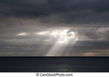 rayon soleil, mer
