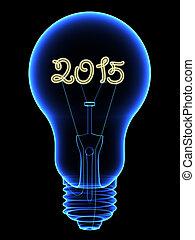 rayon x, chiffres, lightbulb, 2015, noir, intérieur, isolé, étincelant