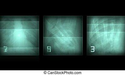 rayon x, résumé, skeleton., pellicule, pal., arrière-plan., humain