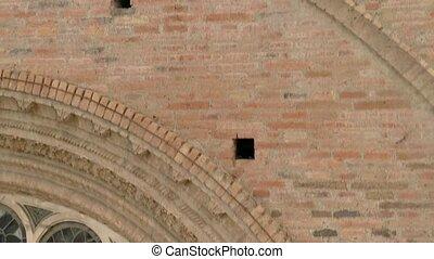 rayons, aérien, dieu, sur, -, bourdon, cathedral.