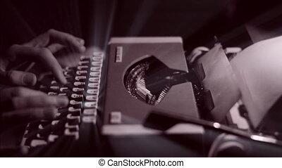 rayons, ange, vendange, lettre écriture, femmes, machine écrire