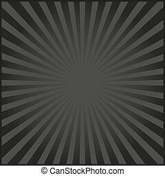 rayons, carnaval, illustration, arrière-plan., vecteur, noir