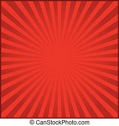 rayons, carnaval, illustration, arrière-plan., vecteur, rouges
