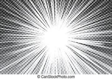 rayons, effect., flamme, flash, lumière soleil, transparent, lentille, vecteur, lumière, soleil, projecteur spécial