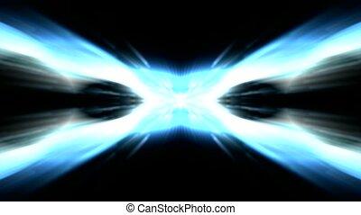 rayons légers, éblouissant, laser