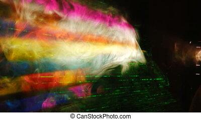 rayons, laser, fumée