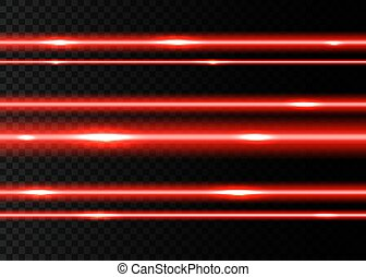 rayons, laser, light., rouges, eclats