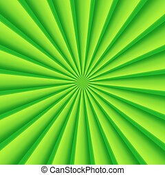 rayons, résumé, vecteur, arrière-plan vert, cercle