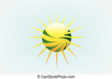 rayons soleil, agriculture, logo